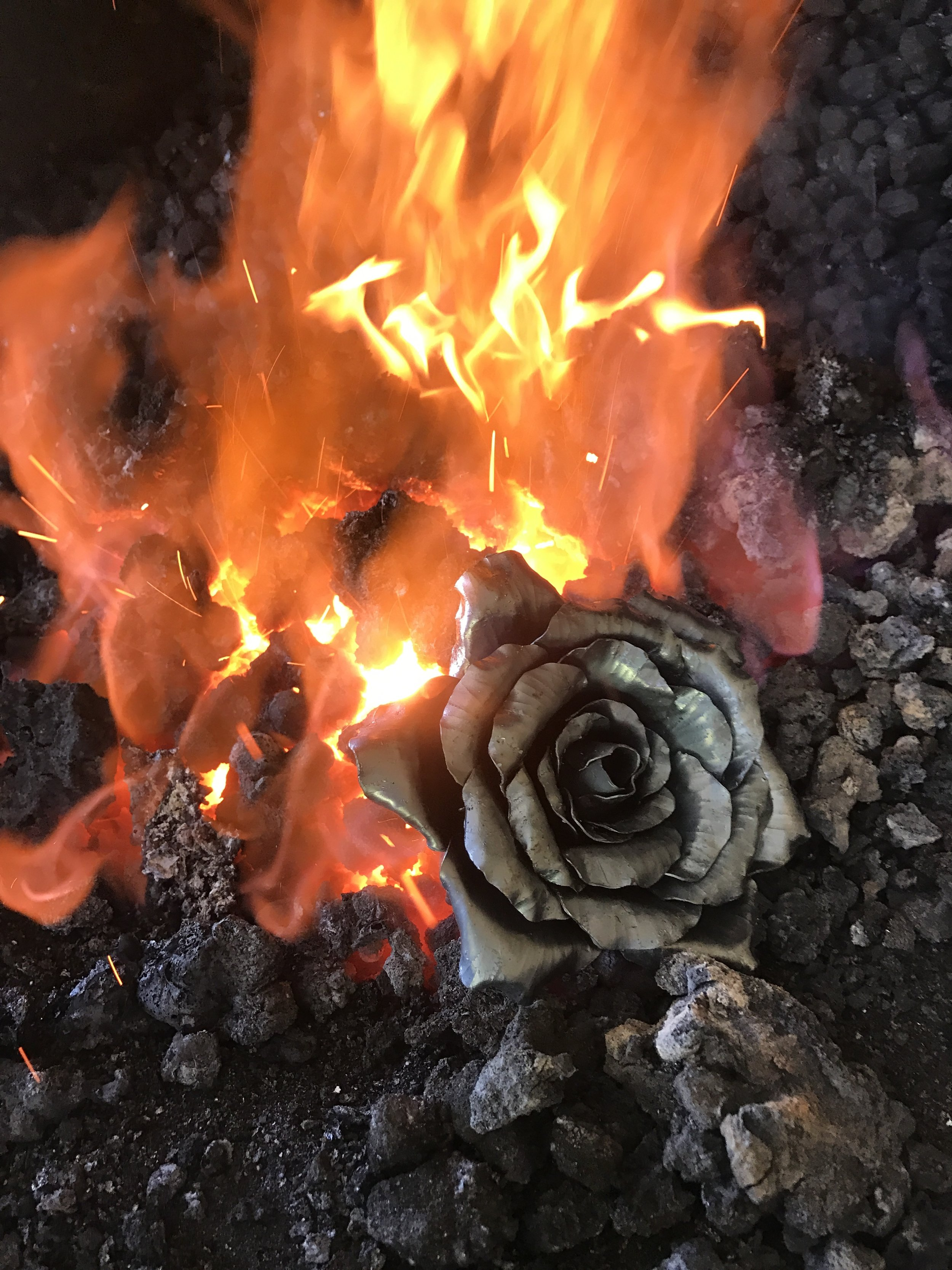 Tall Pine Forge - Hand Forged Rose.JPG