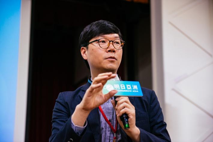 韓國 MYSC 的社會企業育成專家 Jeongtae Kim。來源:社企流