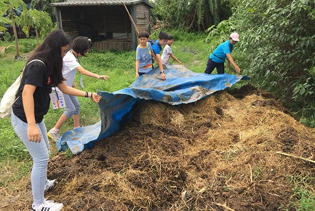 玩轉學校城鄉工學營參訪畜牧業,帶孩子了解在地議題。