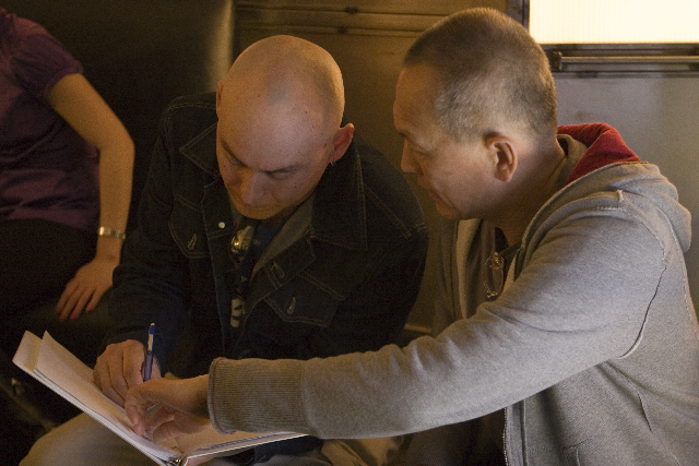 On the set of THE PRINCESS OF NEBRASKA with Director Wayne Wang