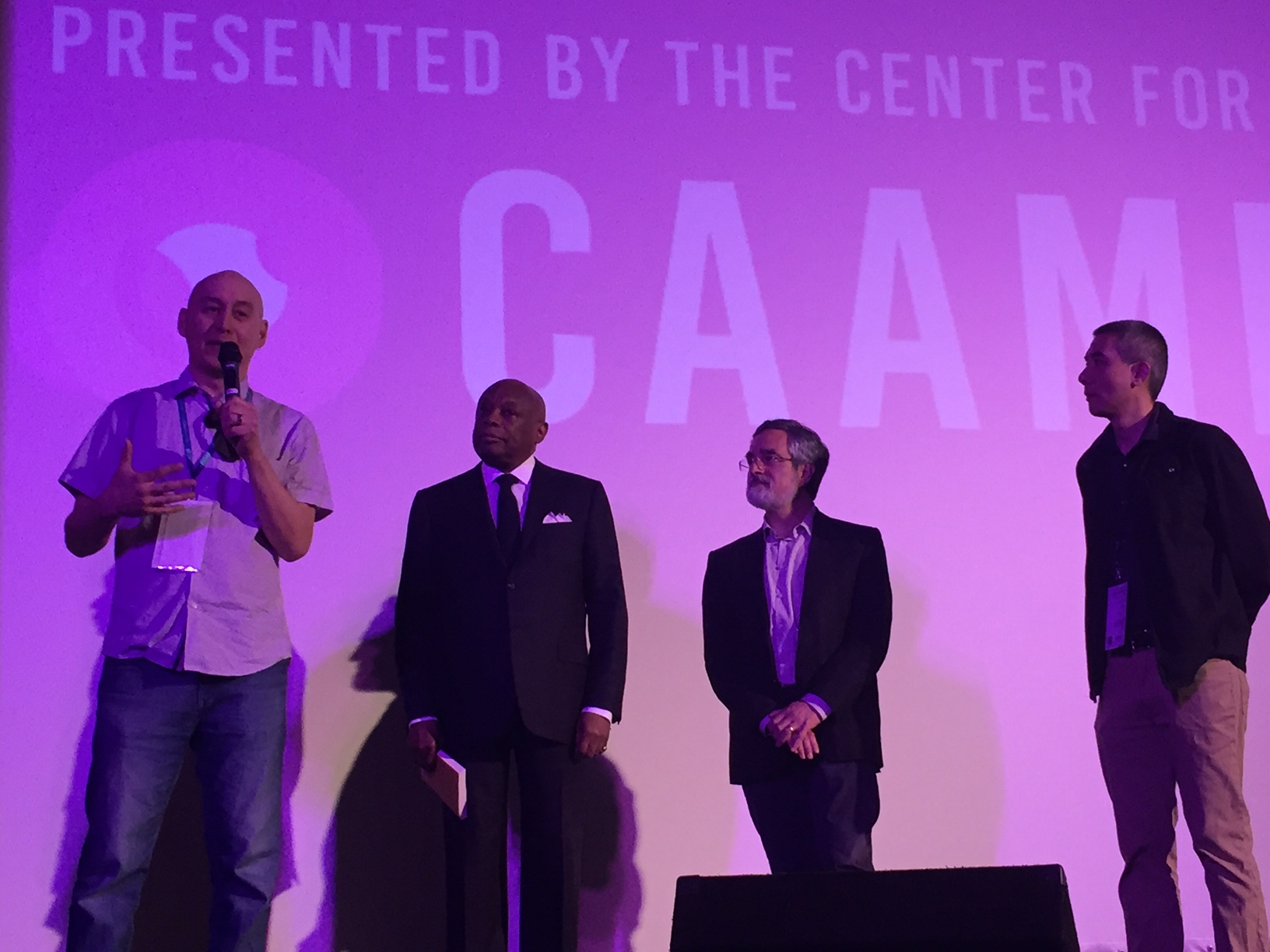 Onstage at CAAMFest 2017 after the screening of  The People's Hospital  with former SF Mayor Willie Brown, SF Supervisor Aaron Peskin and CAAM Producer Don Young