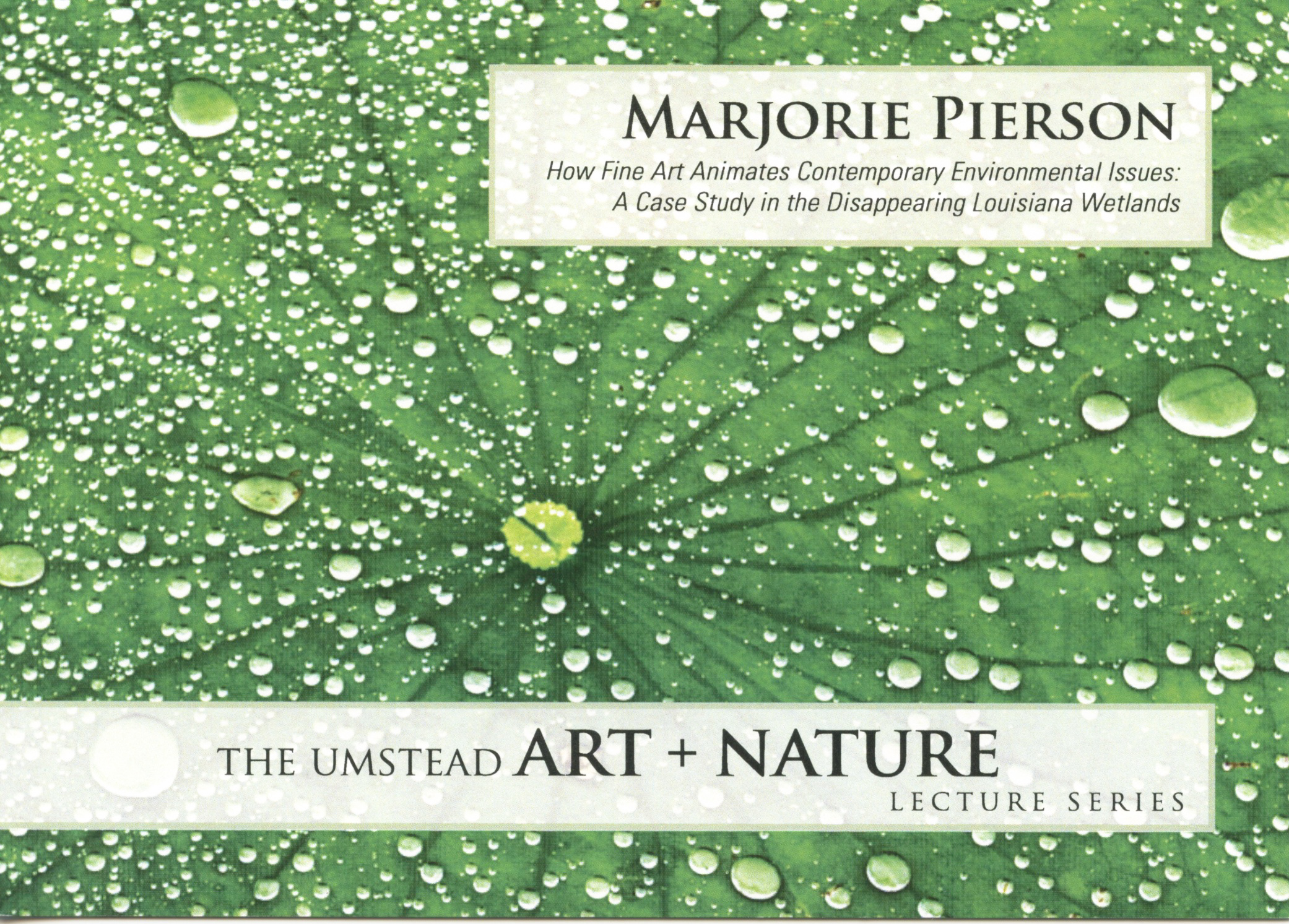 2011 Umstead Art + Nature Lecture