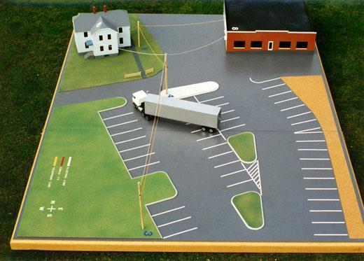 Scale model in the pre-accident configuration