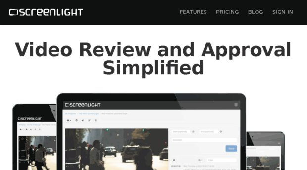 Screenlight video review and approval for editors