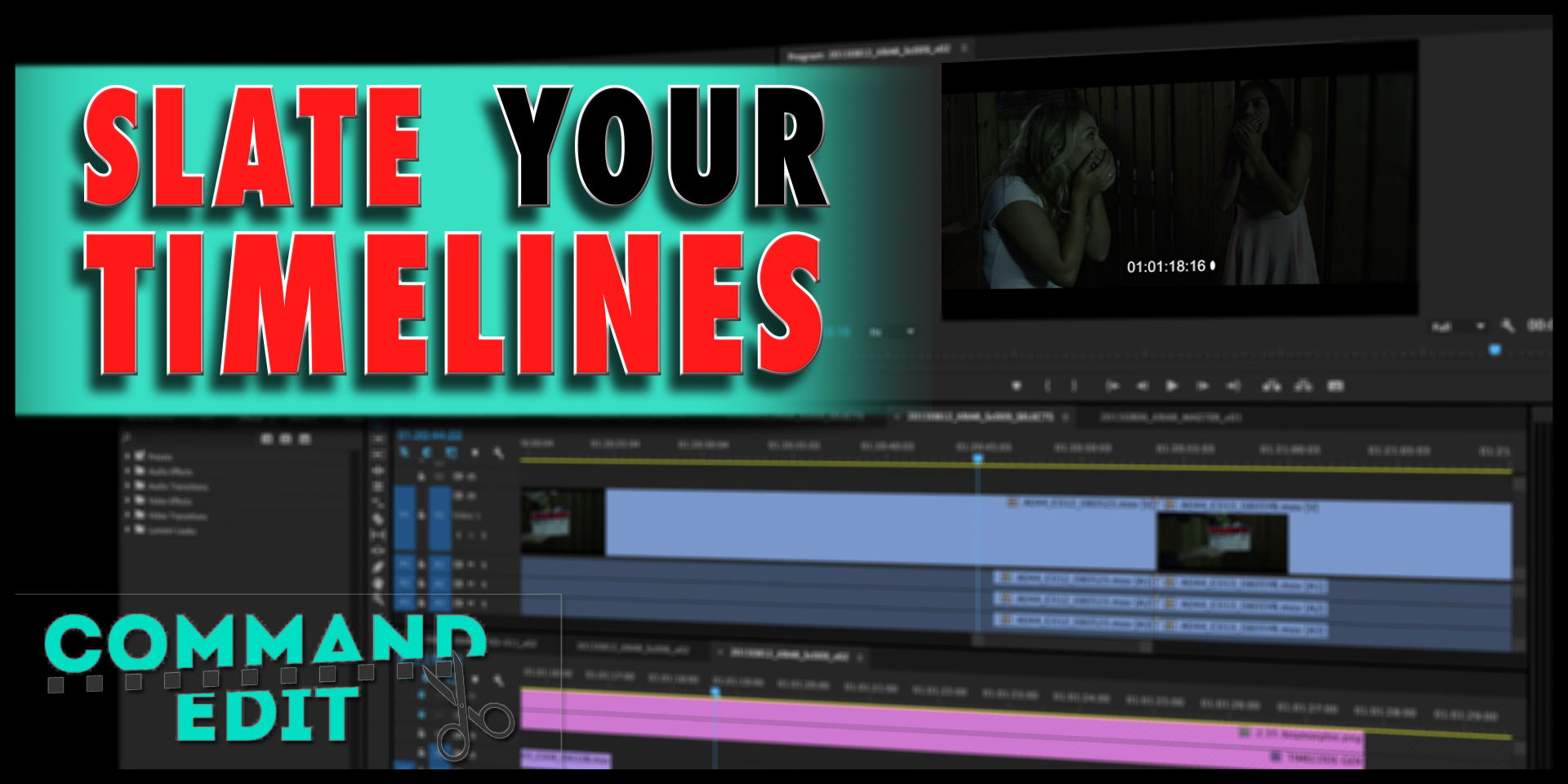 Editors slate your timelines in premiere and avid