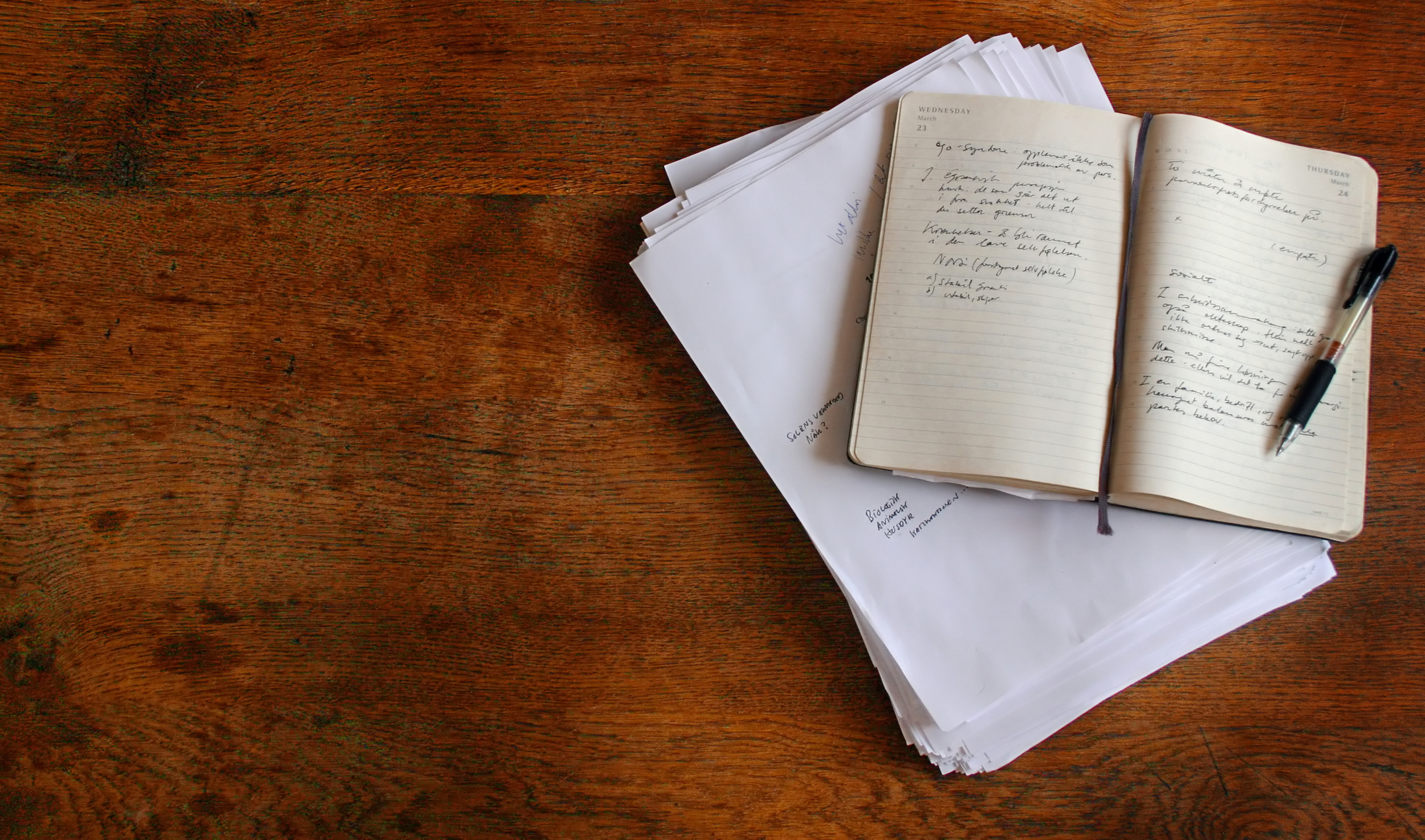Freewriting creative writing exercise for film editors