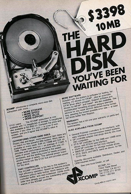 Hard disk old time big cost funny