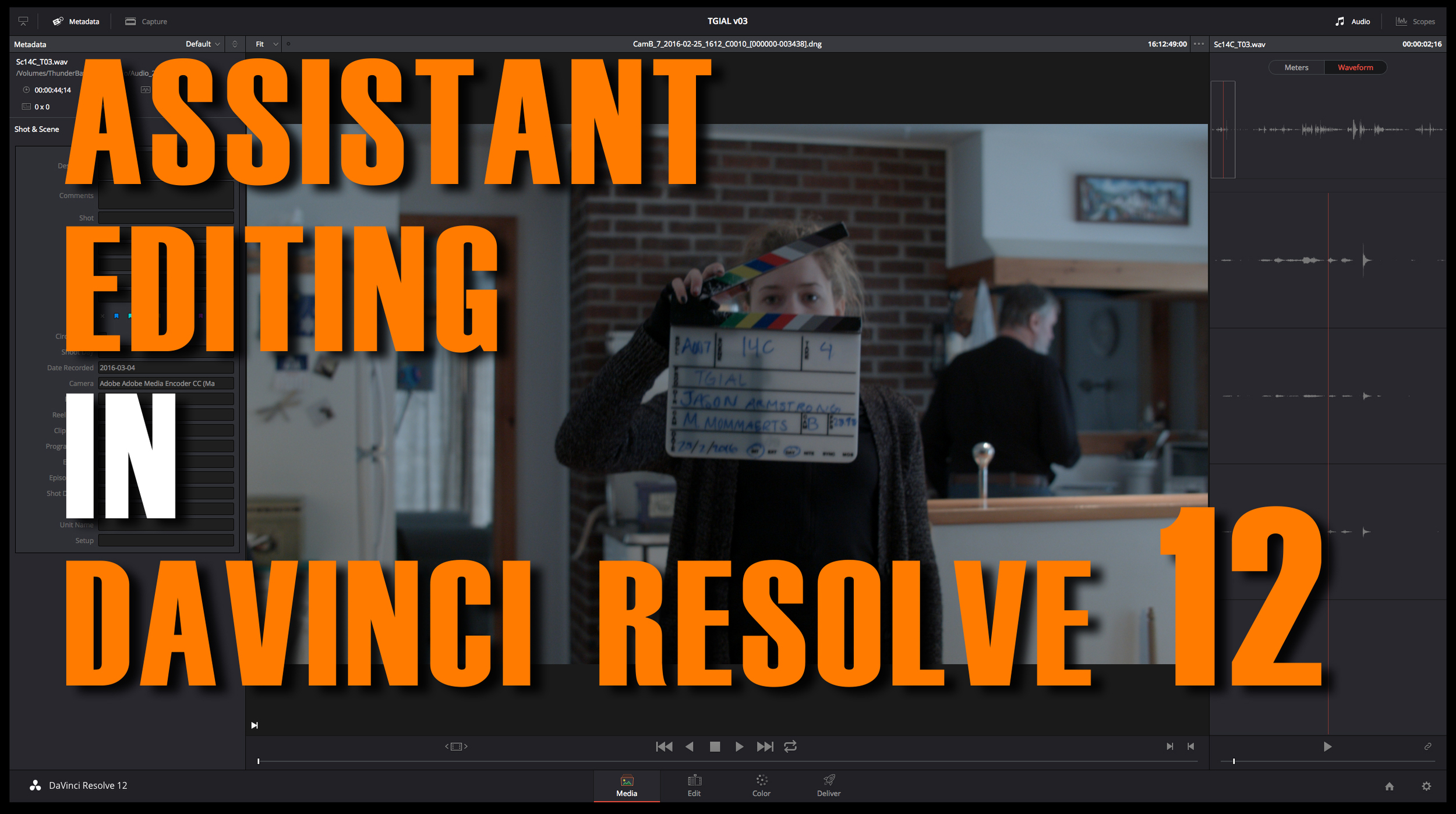 assistant editing in davinci resolve 12