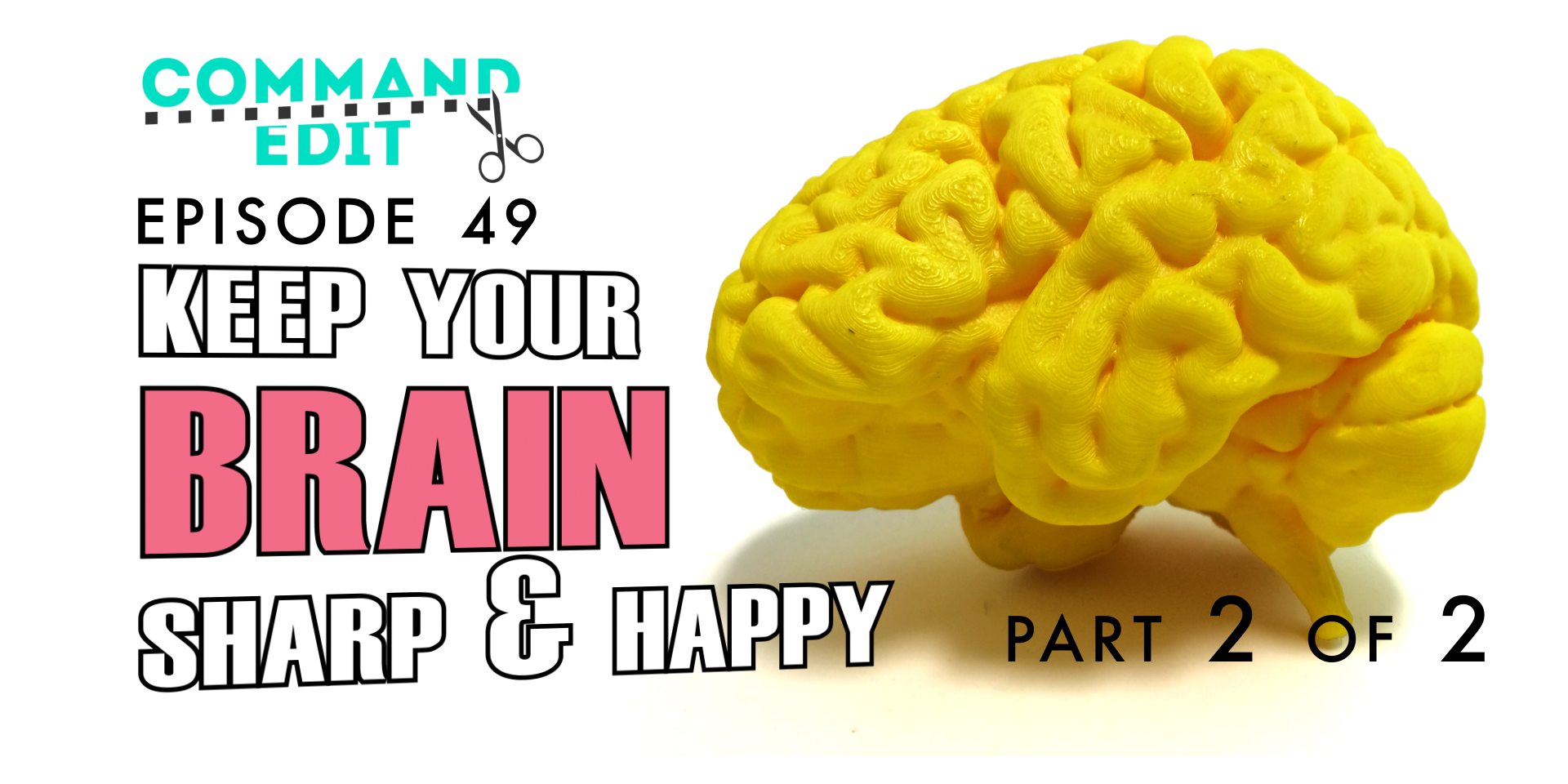 Command Edit Podcast Episode 49 Keep your brain happy health and sharp with mindfulness and meditation