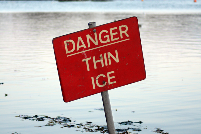 Walking on thin ice when working with controversial material