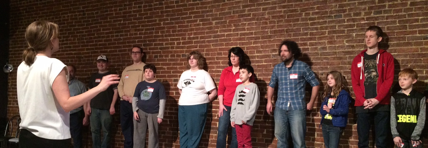 An Open Up Pgh workshop at the  A  rcade Comedy Theater