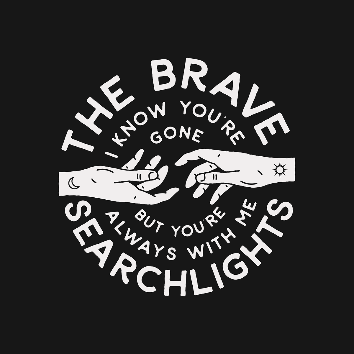 Merchandise designs for The Brave