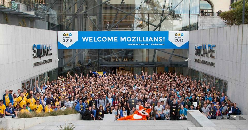Mozilla Summit Group Photo and Fox _ Mozilla Summit 2013.jpeg