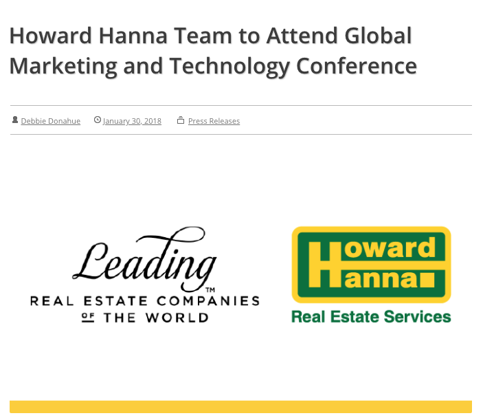 Press, Global Marketing and Technology Conference, Howard Hanna, Sarah Welch.png