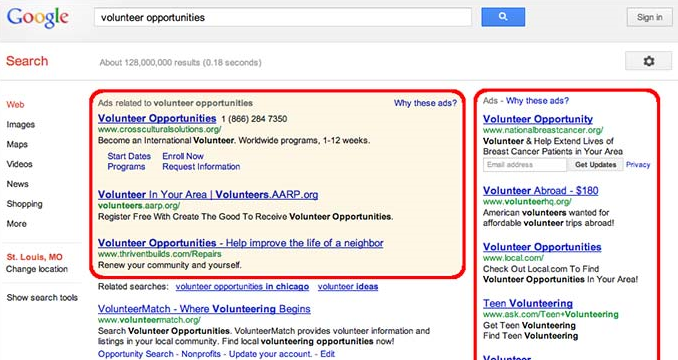 Google ads served after a search. This (combined with your data) is why Google is free.