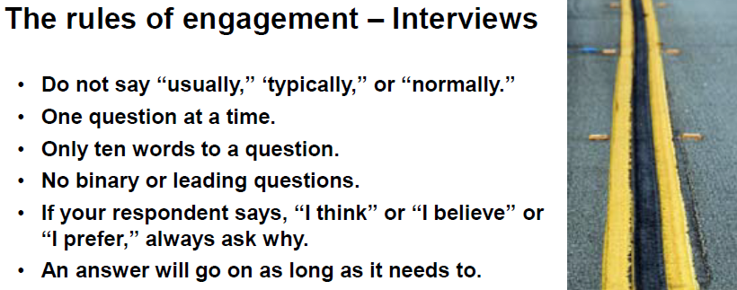 "Some of the ""rules of engagement"" they taught at Stanford"