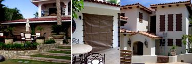 three homes with hurricane fabric