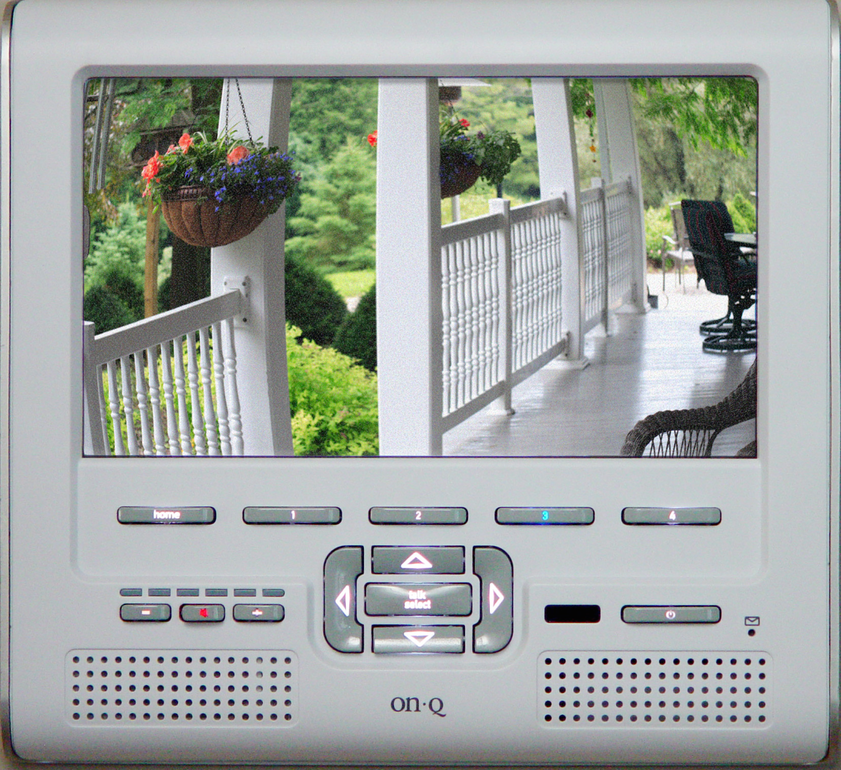 home control panel with LCD screen