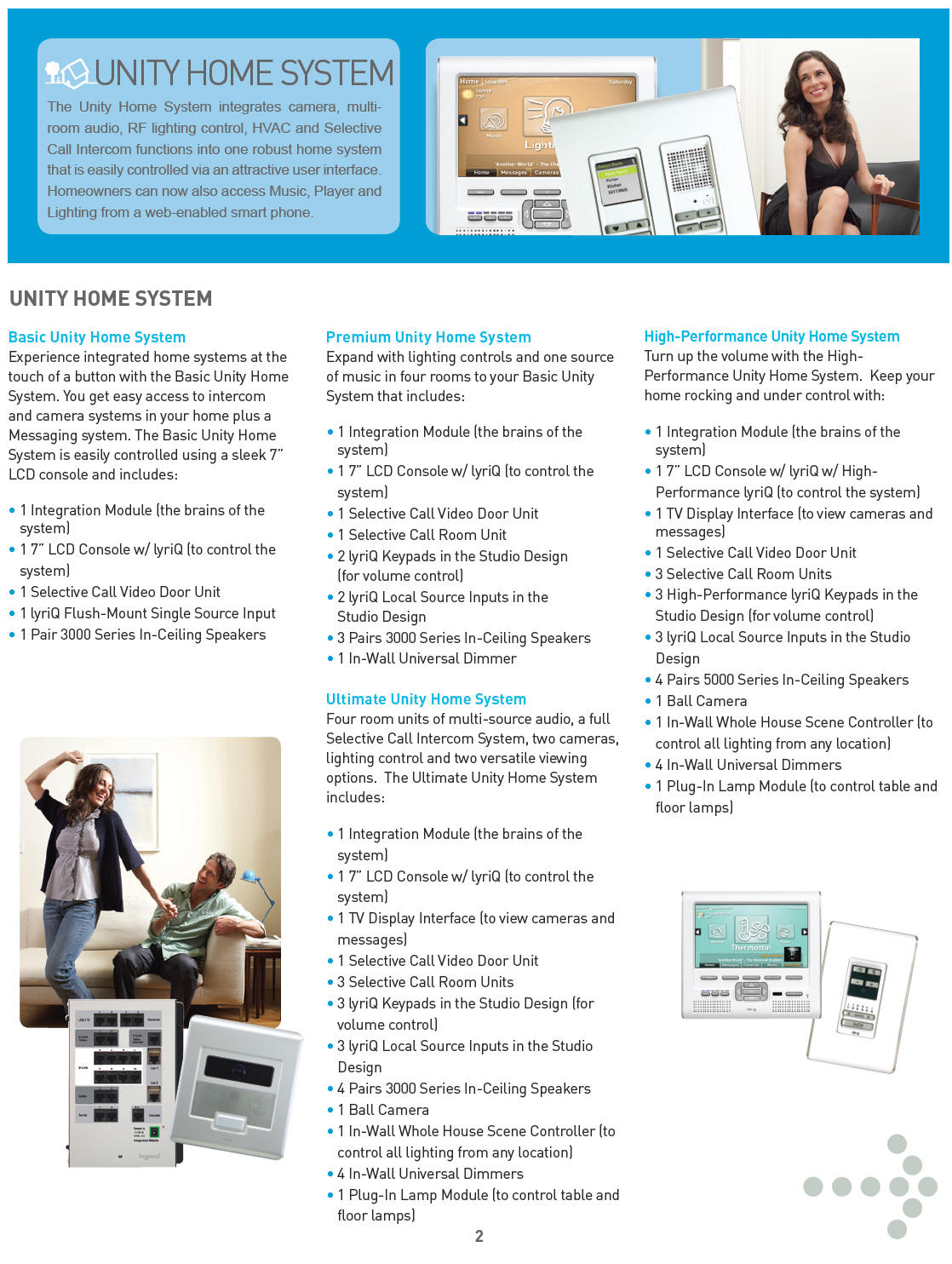Unity Home System full brochure