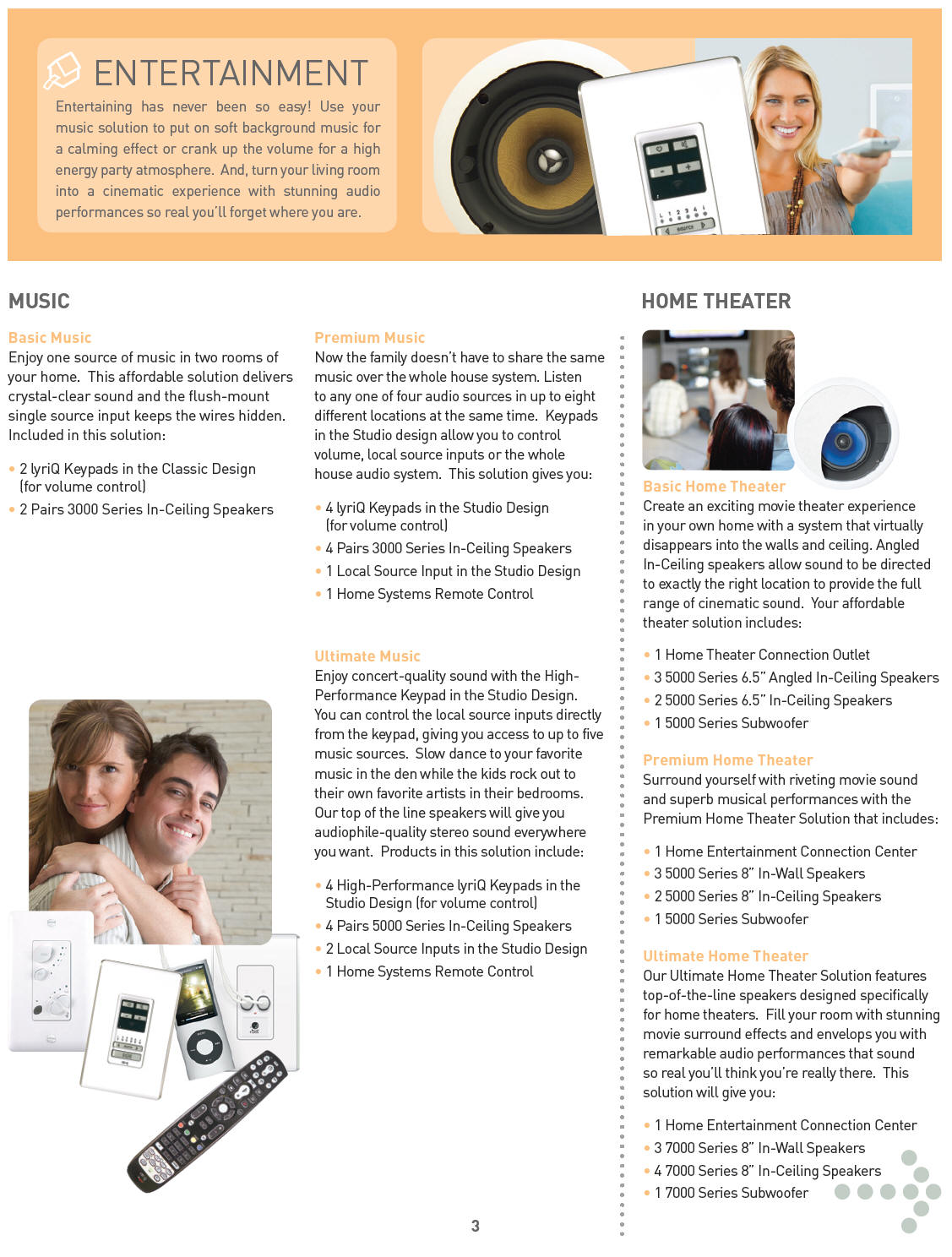 home automation entertainment brochure