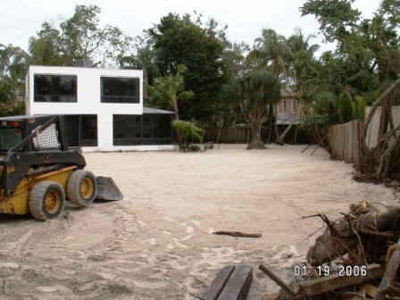 During  - repair and restoration of the lot and home.