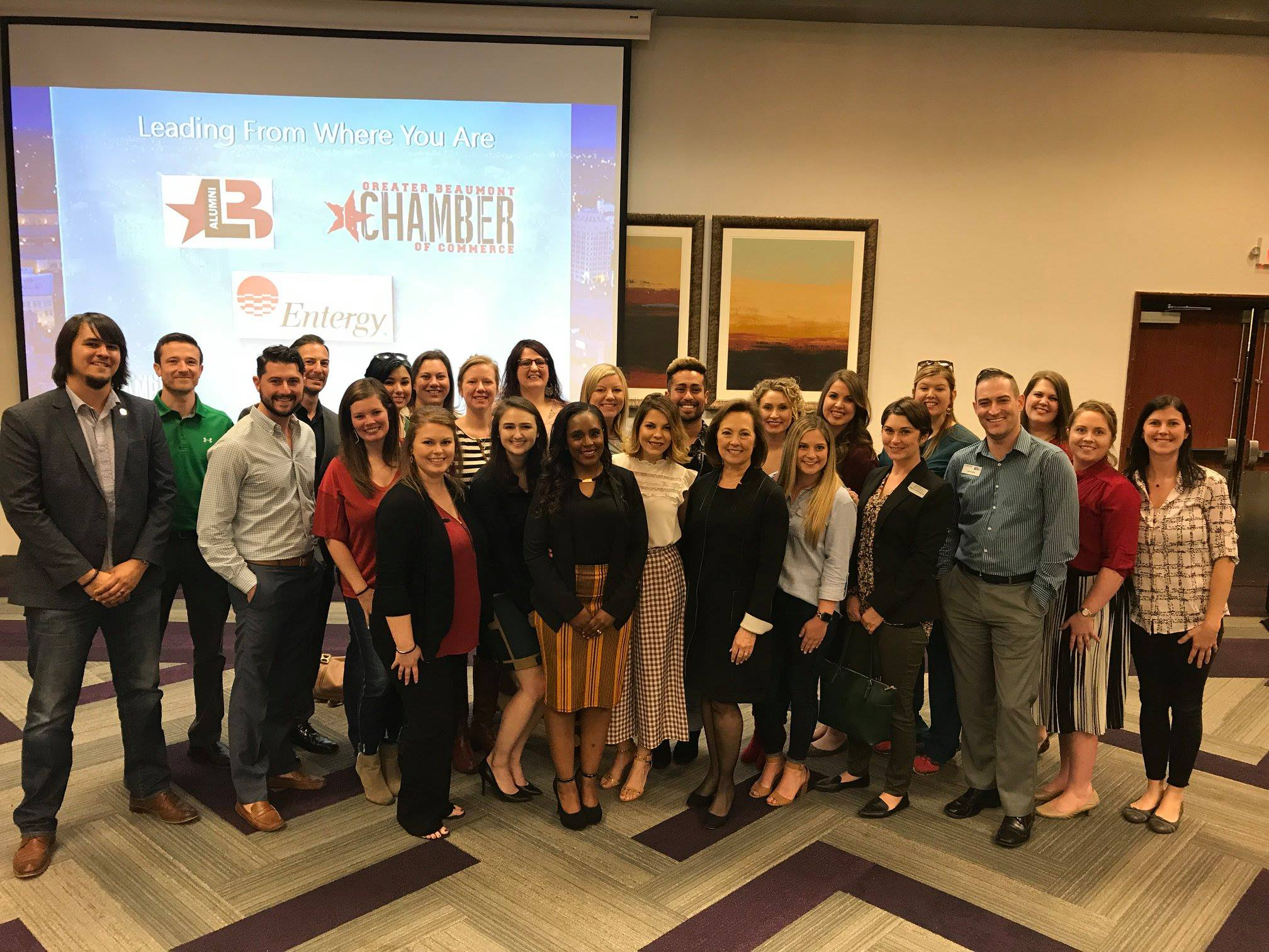 """Leading From Where You Are-Luncheon   """"If your networking circle only includes your coworkers from your department, you need to expand your circle and get uncomfortable to meet new people.""""  - Sallie Rainer, CEO, Entergy Texas"""