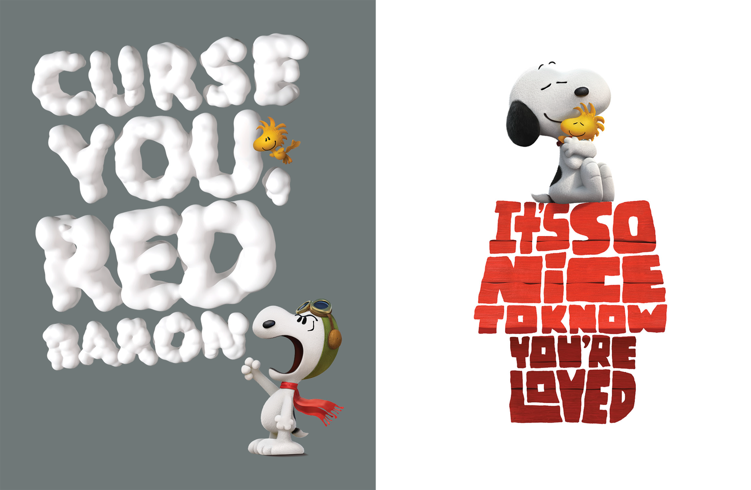 Peanuts the Movie  Creative and art direction, 3D, Hand Lettering, Design