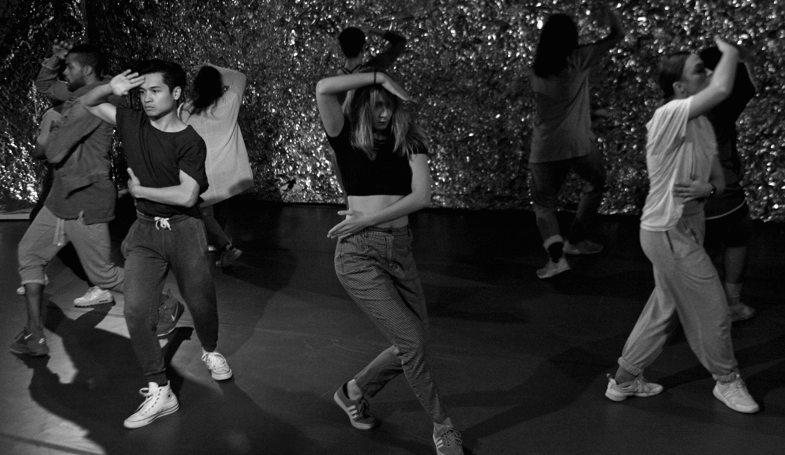 untitled studies on tension   (2018) Photo credit: Deanna Wallach for Brain Love 2018 Choreographed by Sarah Esser Performed by Jimmy Crowell II, Jason Diaz, Sarah Esser, Amy Gatewood, Youran Lee, Breanna Myers, Lea Ono, Kyra Price, Jillian Roberts, & Dana Wiener Music by J. Cole, LION BABE, Miguel, & Lolo Zouai | Edited by Sam Lee