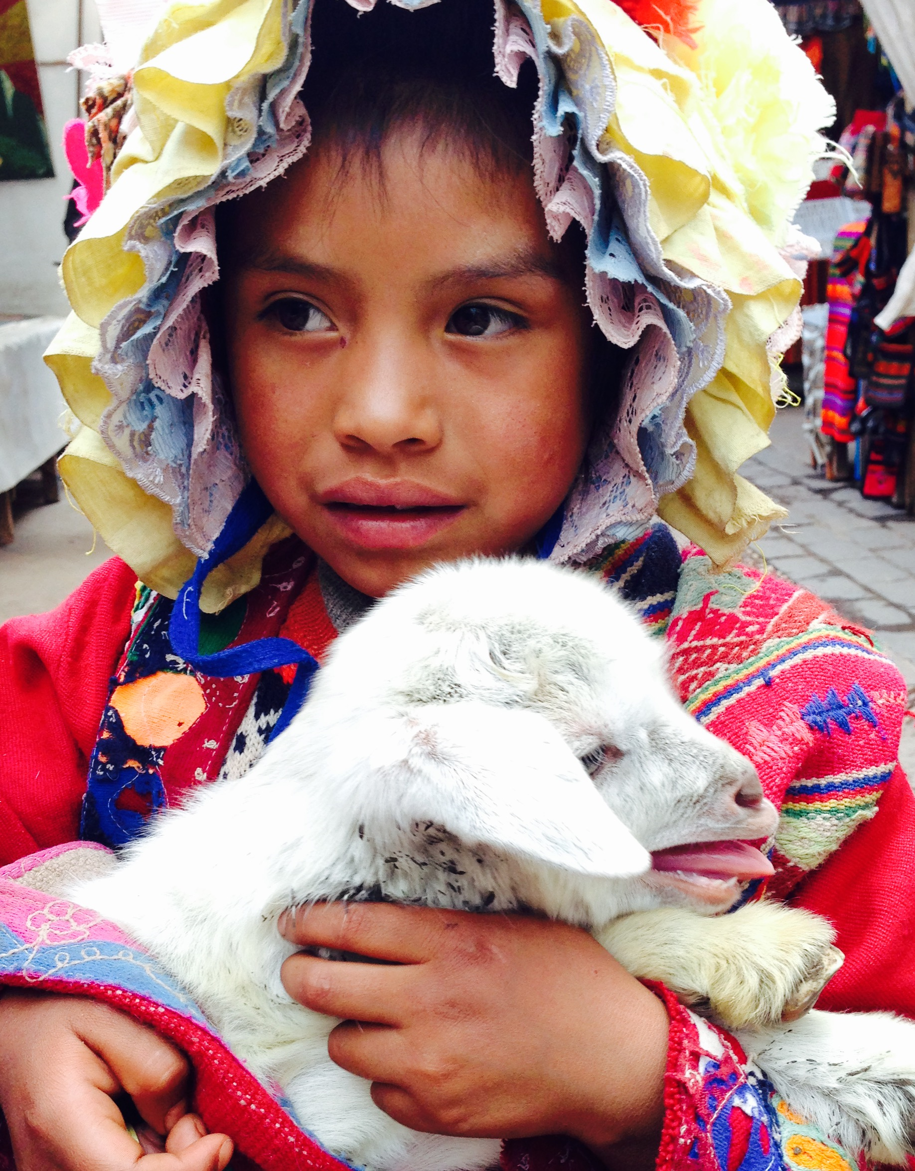 Local girl with lamb, Cusco Peru - 3 Days*