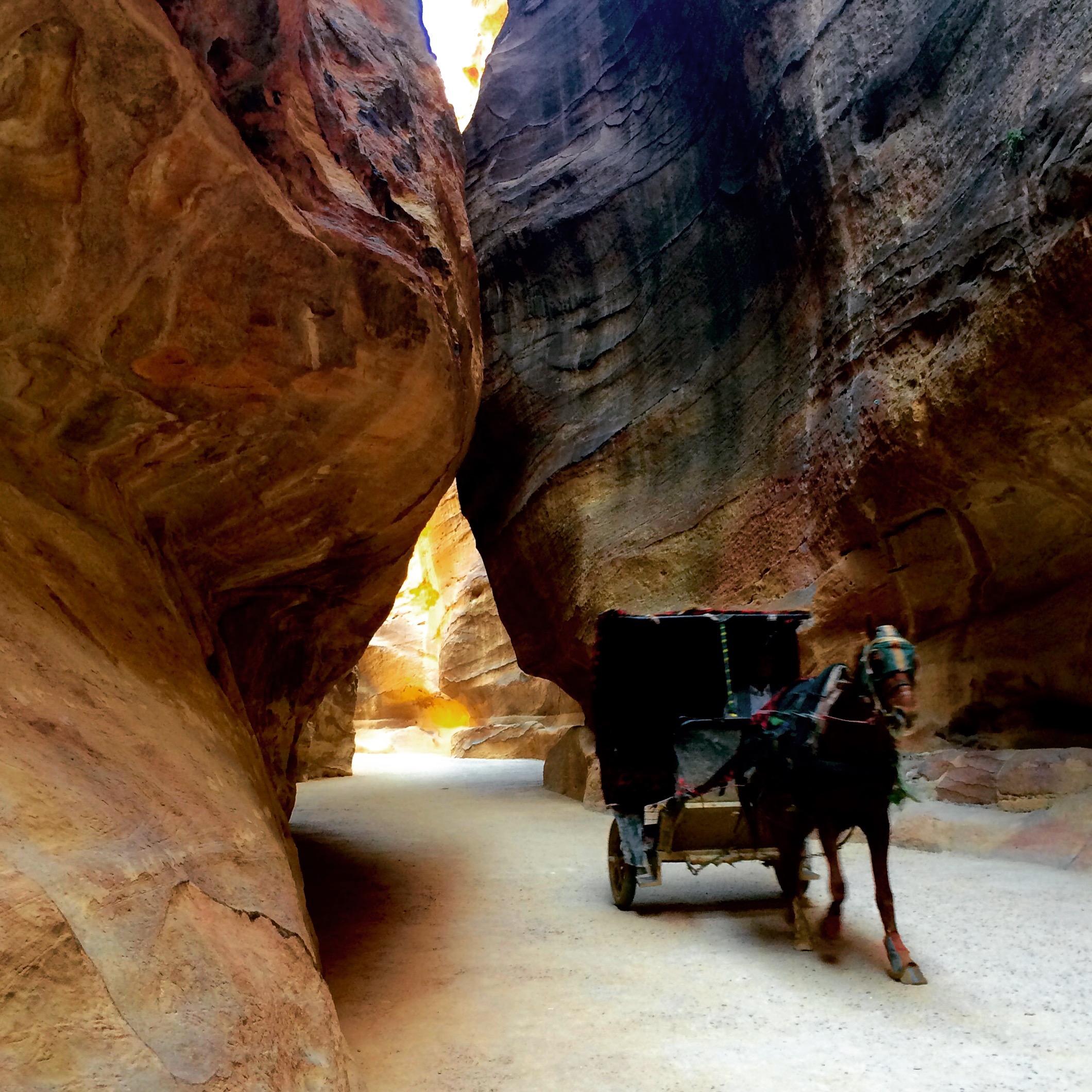 Horse carriage in the Siq, Petra Jordan - 3 Days*