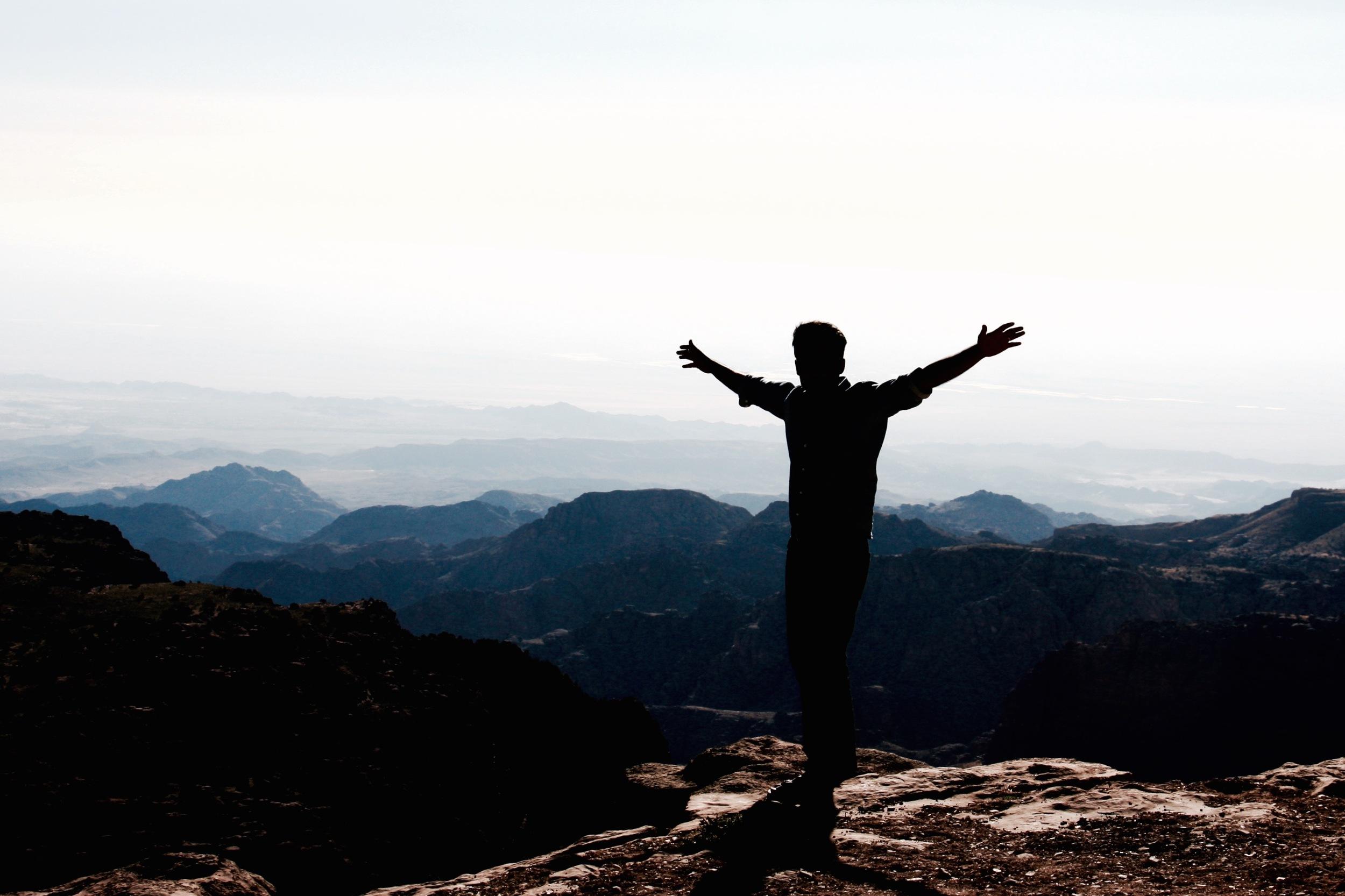 Silhouetted Man,Jordan Highlands - 3 Days*
