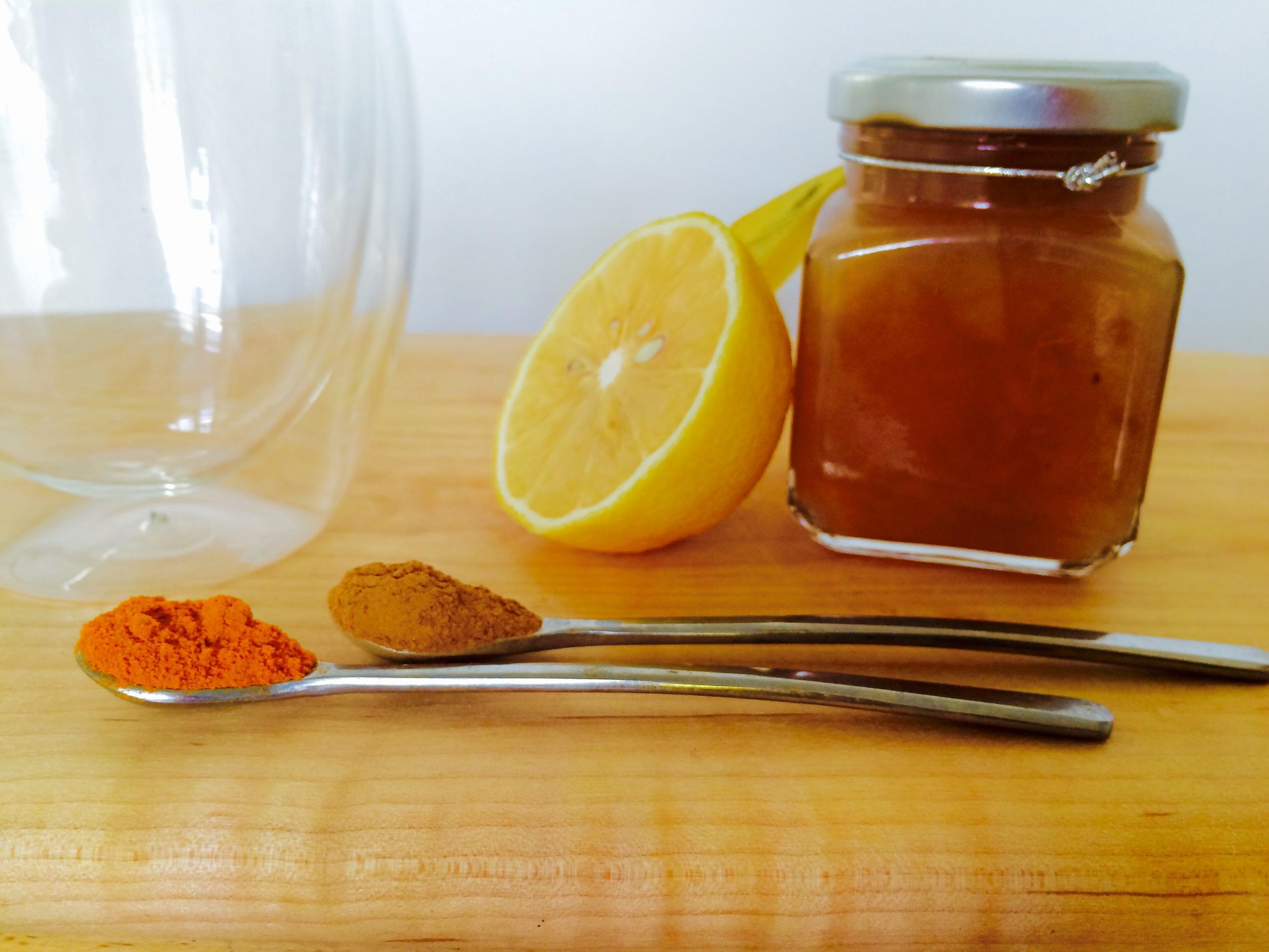 Turmeric Lemon Cinnamon tea healthy food - 3 Days*