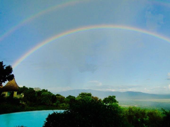Double rainbow over Tanzania, Africa - 3 Days*