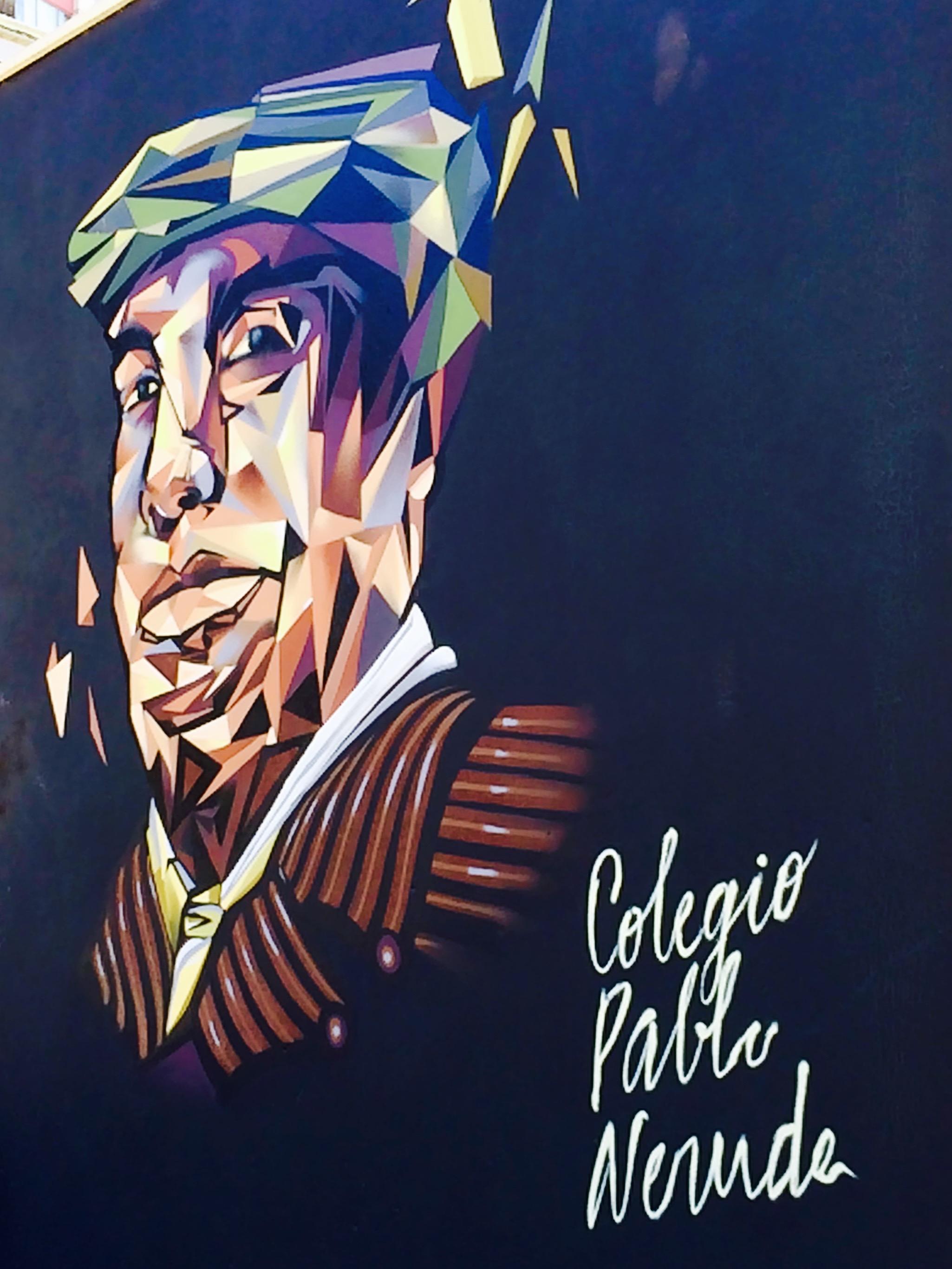 Pablo Neruda Mural, Valparaiso Chile - 3 Days*