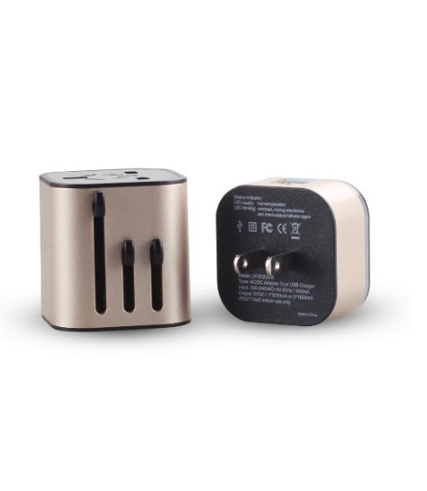 Mocreo's sleek universal travel charger has two USB ports and comes in different colors.