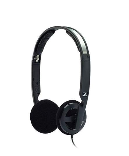 Despite their compact size, Sennheiser's popular headphones cut out background noise effectively.