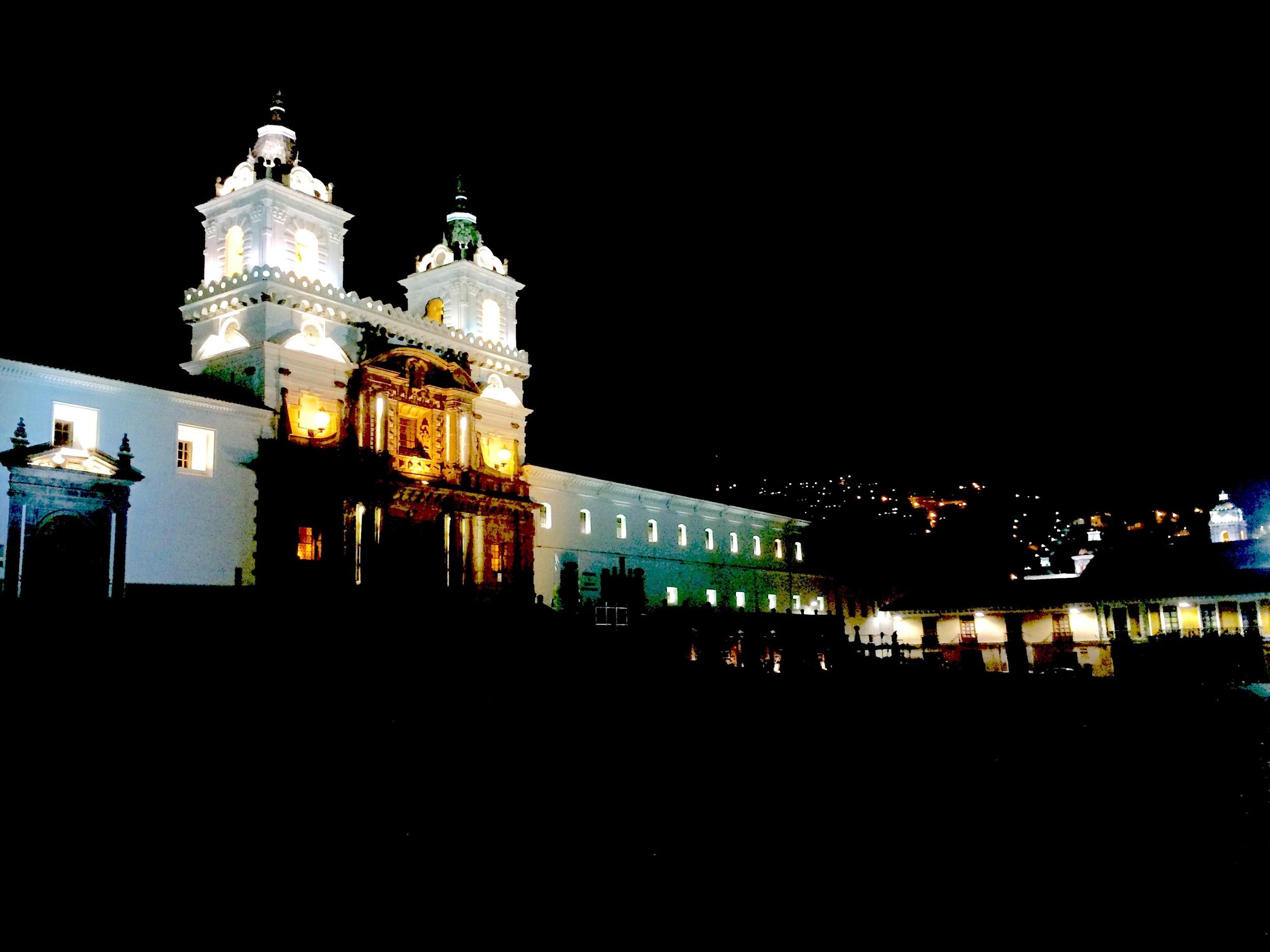 Plaza at Night, Quito Ecuador - 3 Days*
