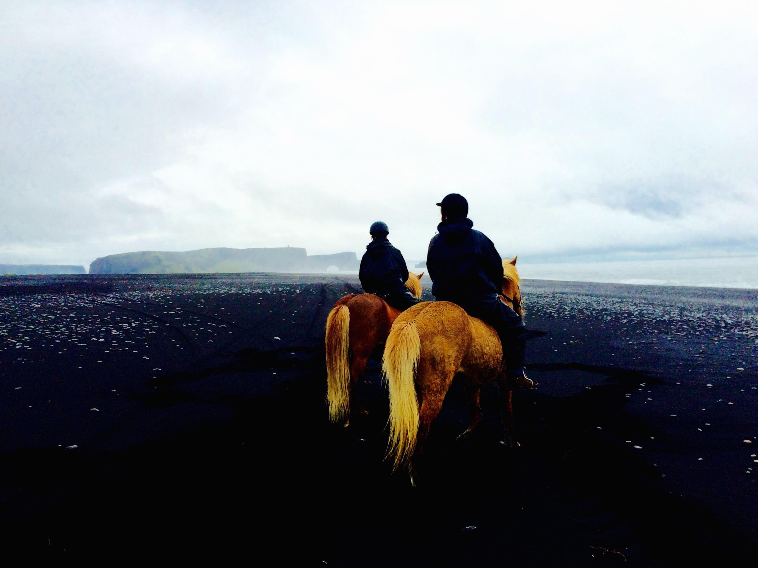 Riding on Reynisfjara black sand beach, Iceland - 3 Days*