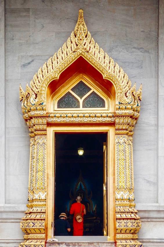 Monk at Temple Door, Bangkok Thailand - 3 Days*