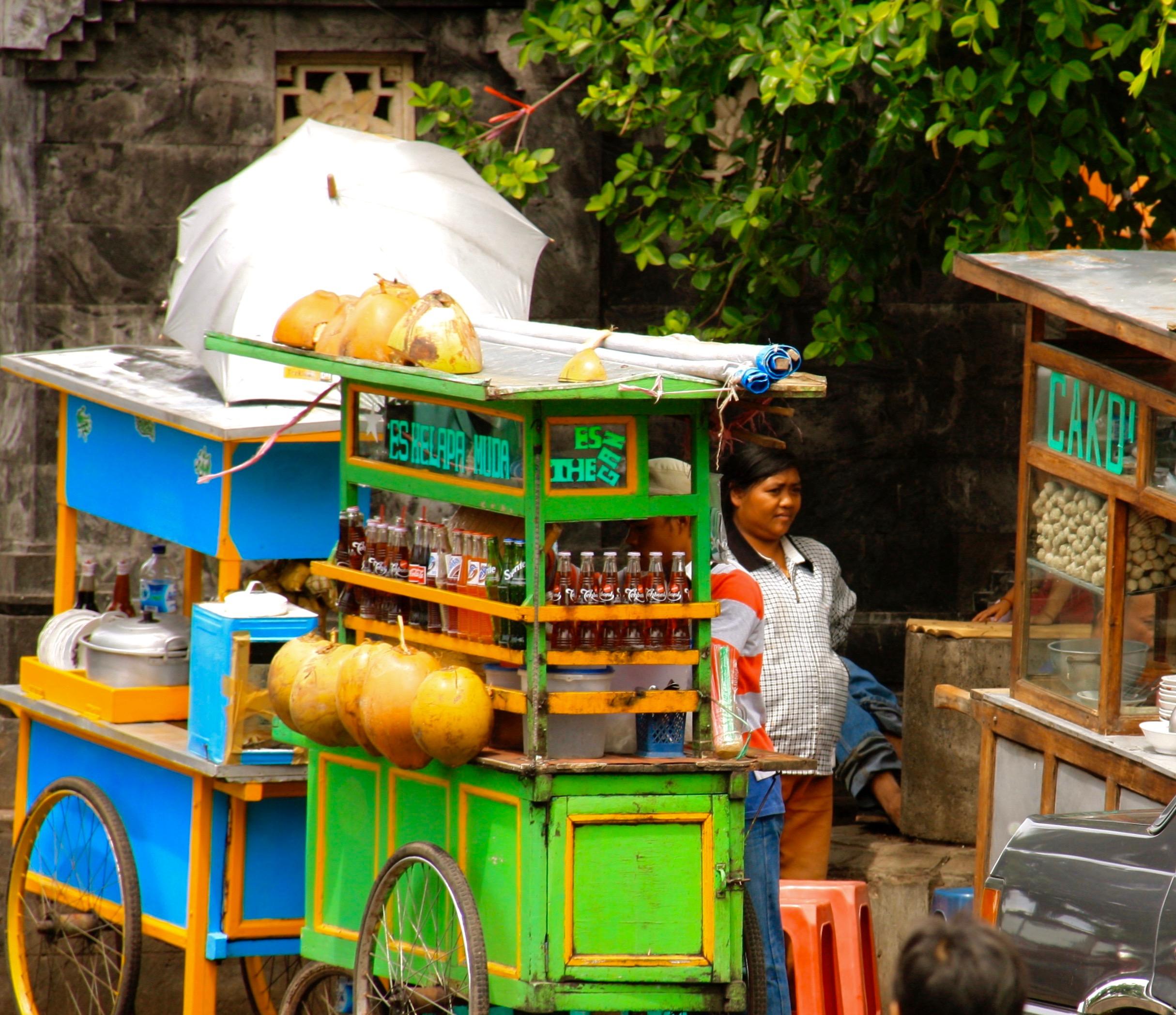 fresh food stand Bali 3 days away