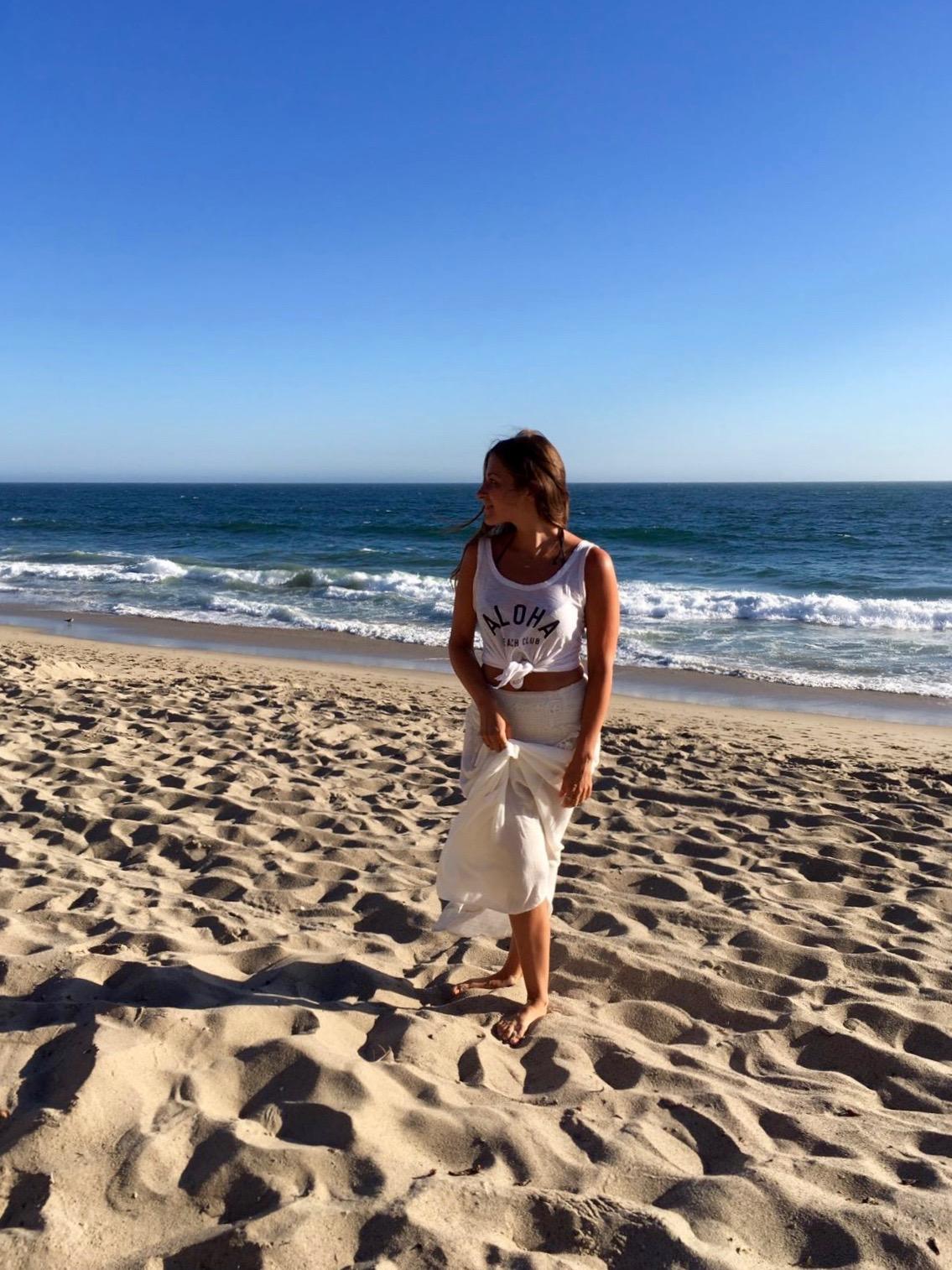 woman beach ocean 3 days