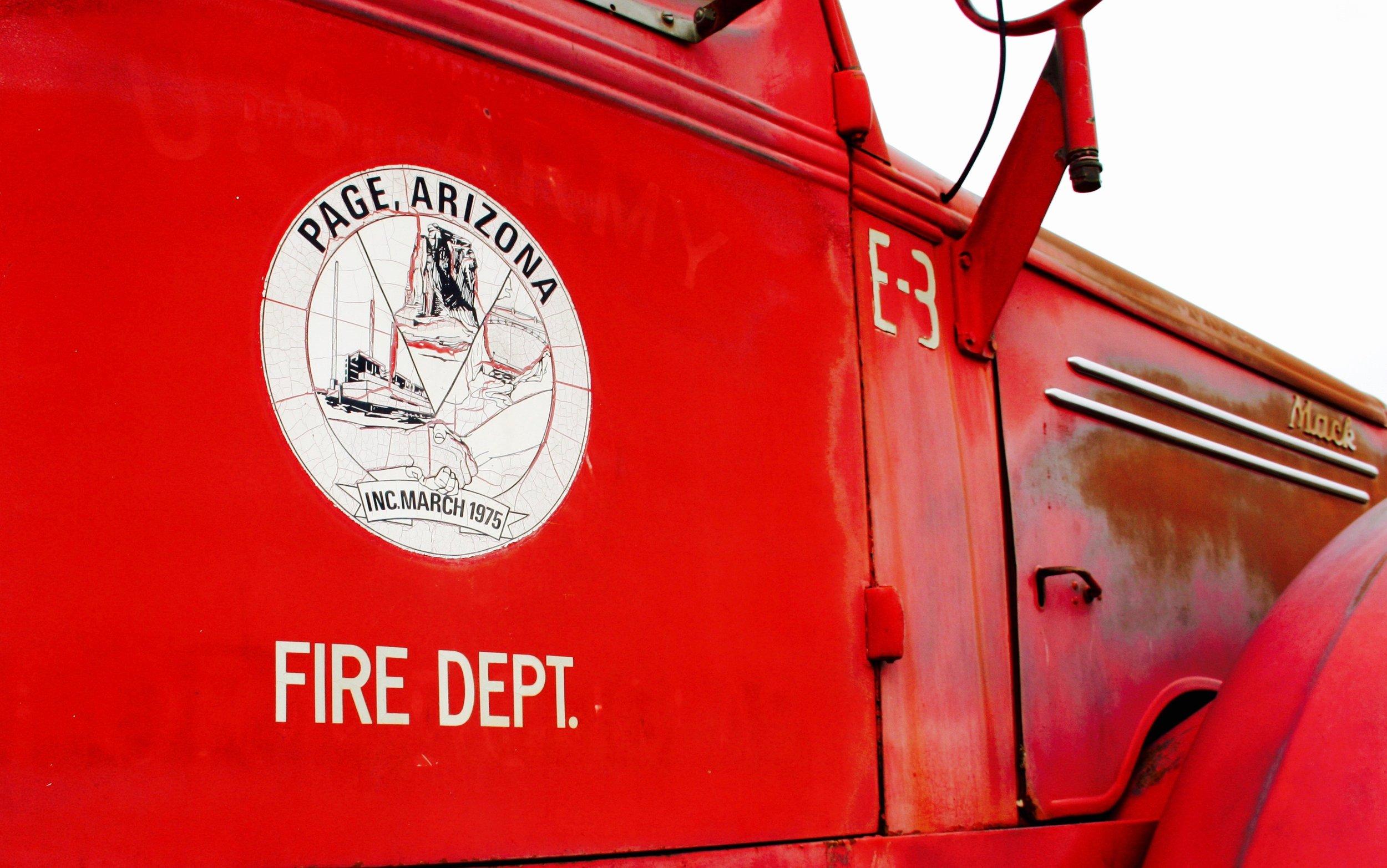 Page, Arizona - Vintage Firetruck - 3 Days*
