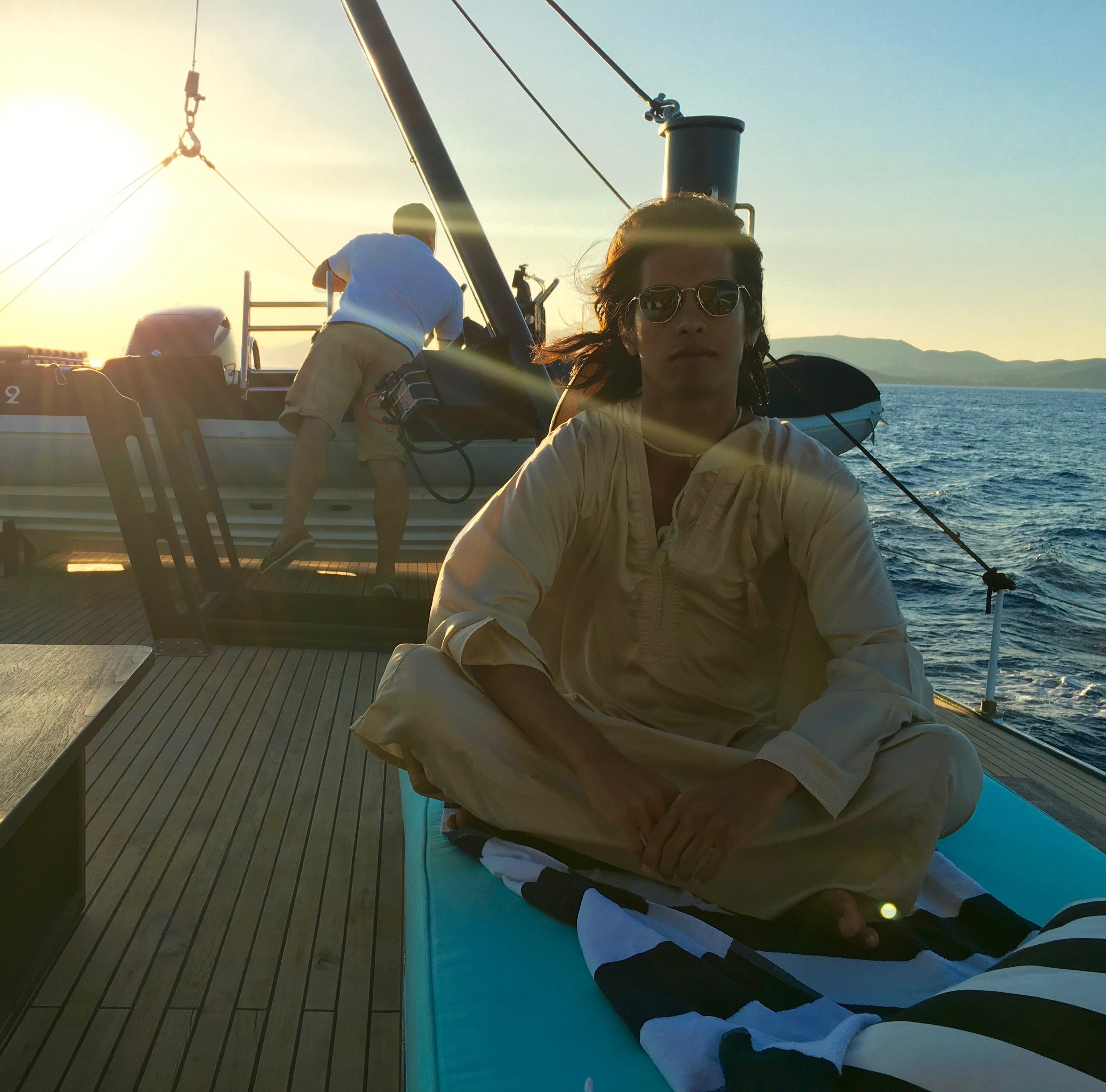 Roland's fiancéOmar on board the Maid Marion II, somewhere in the Mediterranean - 3 Days*