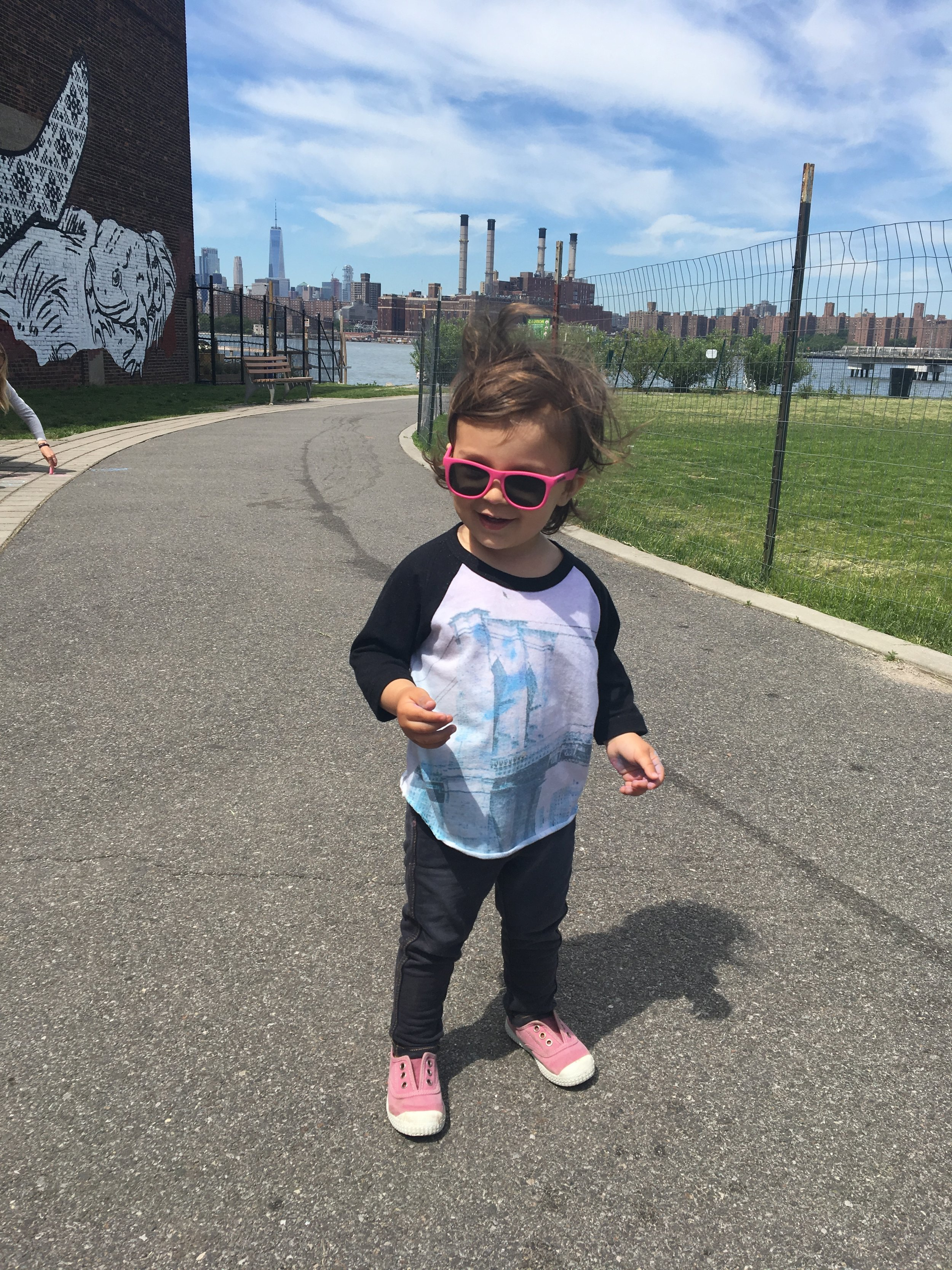 Aarya, on the hunt for dogs to kiss at Transmitter Park, Greenpoint - 3 Days*