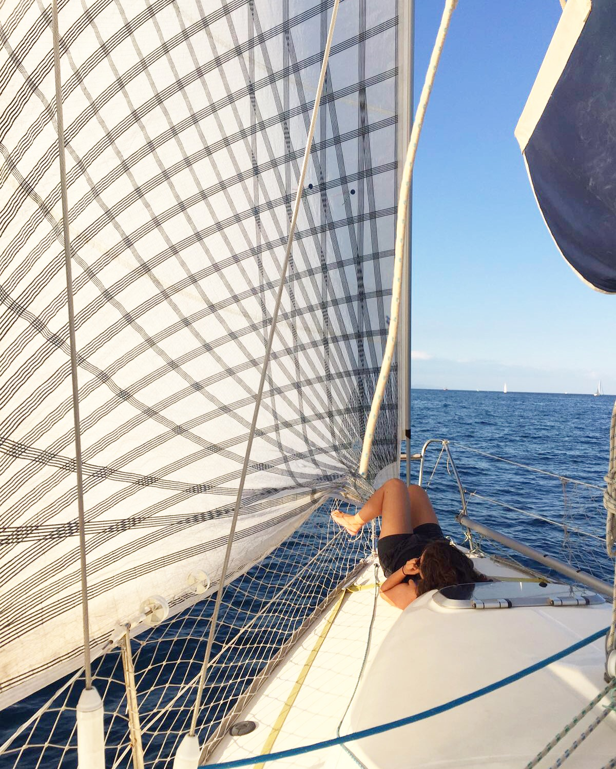 Hallie sailing off the coast of Barcelona - 3 Days*