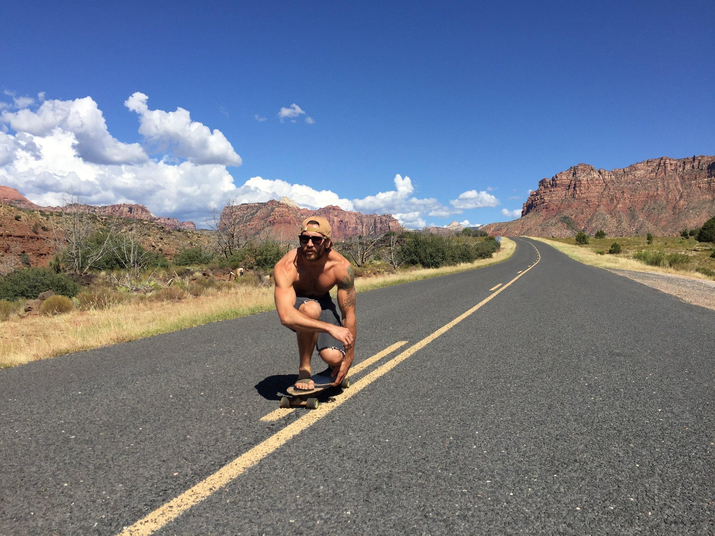 Aaron Medeiros skateboarding in Zion, Utah - 3 Days*