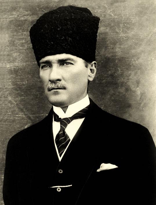 Mustafa Kemal in 1923. He became known as     Atatürk in 1934.