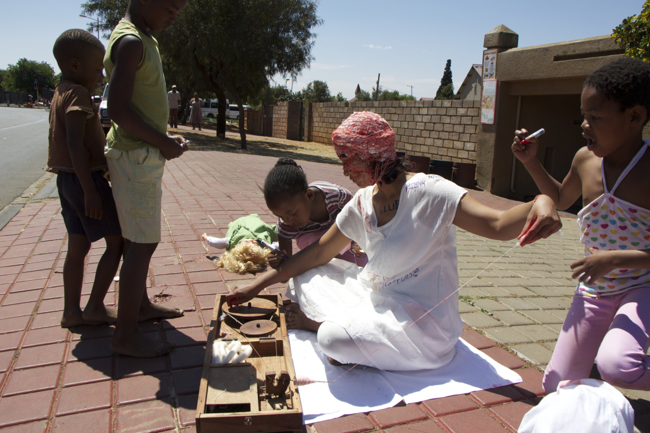 Churning I, Soweto. Performance