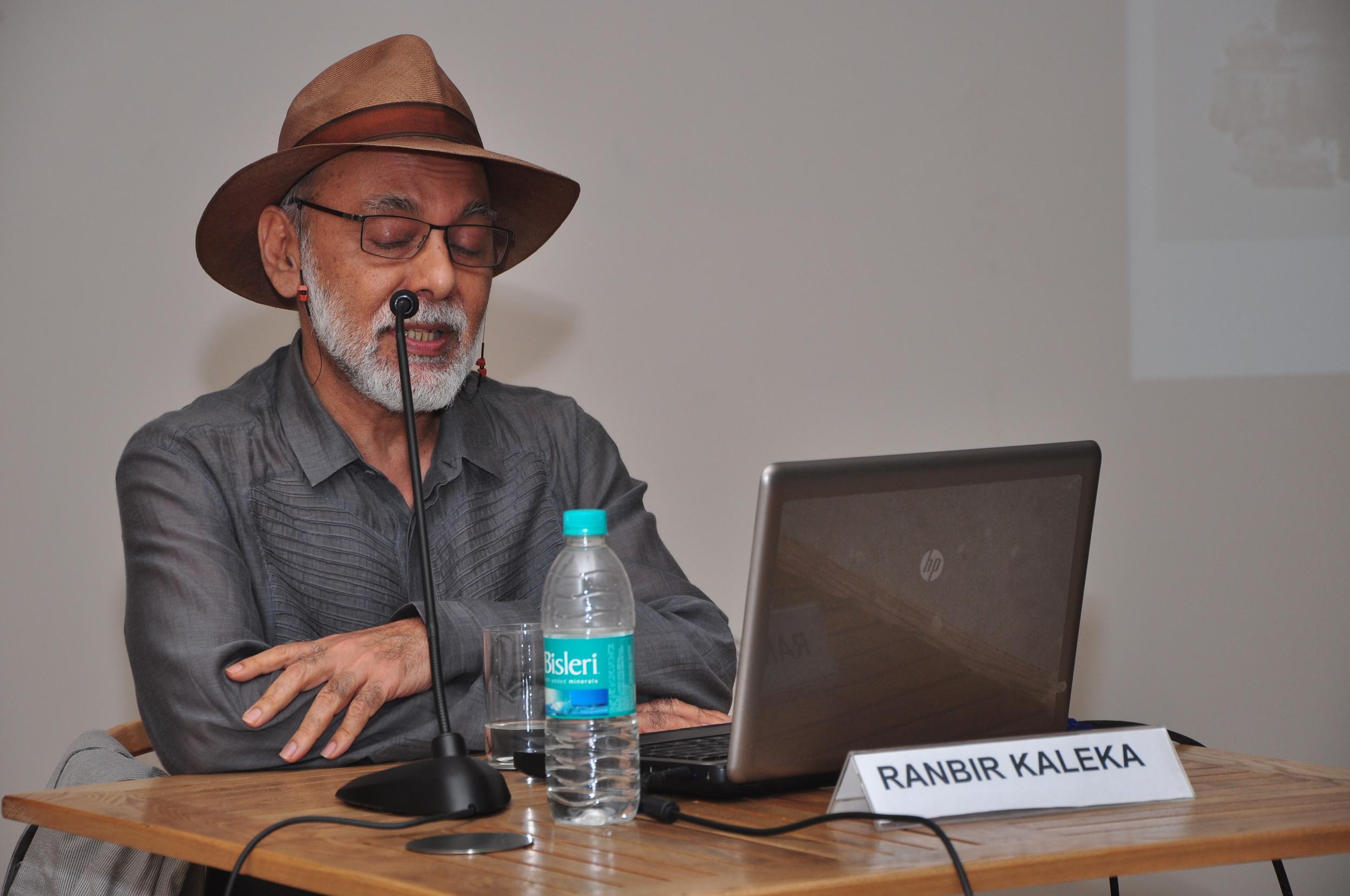 Ranbir Kaleka talking about his work, (Image courtesy- KNMA, New Delhi)JPG.JPG