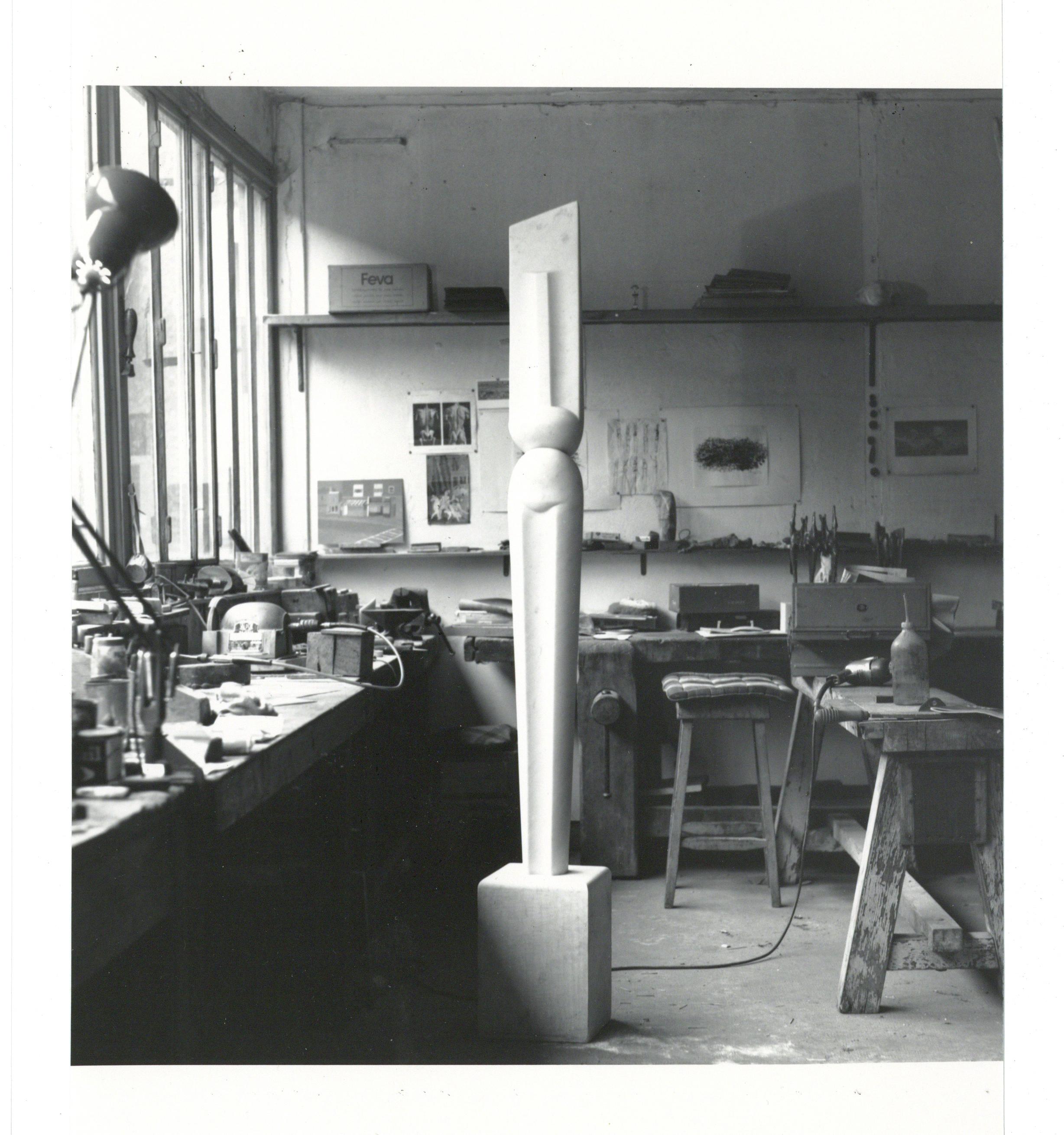 Krishna Reddy_Paris atelier in the Sixties 2_Archival print on paper_22in x 17in_Ed of 5+AP_2016